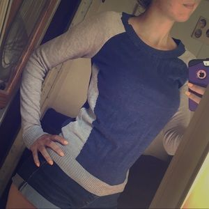 Takeout Colorblock Sweater NWOT